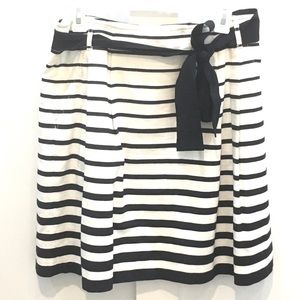 WHBM black and white striped skirt with pockets
